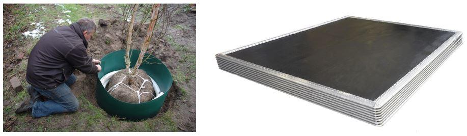 Natural Plastics: boomanker van biodegradeerbaar materiaal. Solico: bodemplaat vliegtuig